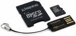Obrázok produktu Kingston microSDHC, 8GB, adaptér SD+adaptér USB
