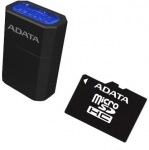 Obrázok produktu ADATA MicroSDHC, UHS-I Class10, pamäťová karta, 16GB + mikro čítačka USB