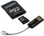 Obrázok produktu Kingston microSDkarta, 16GB, adaptér SD+adaptér USB