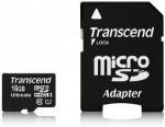 Obrázok produktu Transcend microSDHC 600x, Class 10 UHS-I, U1, pamäťová karta 16GB, Ultimate