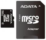 Obrázok produktu ADATA microSDHC karta, 32GB, adaptér SD