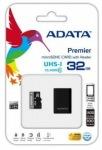 Obrázok produktu ADATA Premier microSDHC, UHS-I Class10, pamäťová karta, 32GB + USB micro čítačka