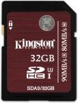 Obrázok produktu Kingston SDHC, UHS-I U3 Class10, pamäťová karta 32GB, (90 MB/ s, 80 MB/ s)