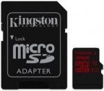 Obrázok produktu Kingston microSDHC, UHS-I U3, Class10, pamäťová karta 32GB (90 MB/s, 80 MB/s) + SD adaptér