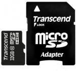 Obrázok produktu Transcend Micro SDHC karta 32GB, adaptér SD