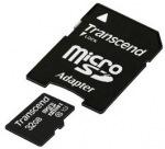 Obrázok produktu Transcend MicroSDHC, Class 10 UHS-I, U1, pamäťová karta 32GB + SD adaptér