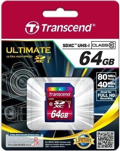 Transcend SDXC karta, 64GB, Class 10, UHS-I | PCkonfig.sk