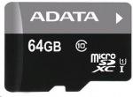 Obrázok produktu A-data microSDXC 64 GB, class 10 Ultra High Speed + micro-čítačka V3