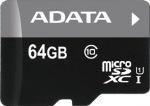 Obrázok produktu ADATA MicroSDXC Premier USH-I Class 10, karta 64GB
