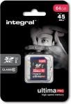 Obrázok produktu INTEGRAL UltimaPro SDXC, UHS-I Class 10, pamäťová karta 64GB