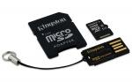 Obrázok produktu Kingston Mobility Kit, Class 10 UHS-I, pamäťová karta 64GB, microSDXC + USB čítačka + adap