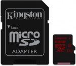 Obrázok produktu Kingston microSDXC, UHS-I U3, Class10, pamäťová karta 64GB (90 MB/s, 80 MB/s) + SD adaptér