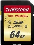 Obrázok produktu Transcend SDXC, Class10 UHS-I U3, pamäťová karta 64GB