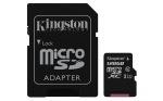 Obrázok produktu 128 GB . microSDXC karta Kingston Class 10 UHS-I (r80MB / s,  w10MB / s) + adaptér