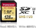 Obrázok produktu Transcend SDXC, Class10 UHS-I U3, pamäťová karta 128GB
