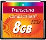 Obrázok produktu Transcend CompactFlash 133x, pamäťová karta 8GB