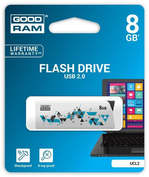 8 GB .  USB kľúč . GOODDRIVE CL!CK - UCL2-0080W0R11