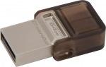 Obrázok produktu Kingston DataTraveler MicroDuo, USB kľúč 64GB, USB 2.0, hnedý