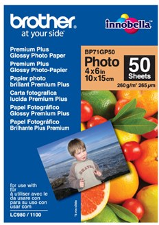 BROTHER, 10x15cm, lesklý fotografický papier - BP71GP50