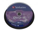 Obrázok produktu Verbatim médium DVD+R, 4.7GB, 16x, 10ks, cake