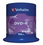 Obrázok produktu Verbatim médium DVD+R, 4.7GB, 16x, 100ks, pack spindl