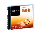 Obrázok produktu Média DVD-R SONY DMR-47; 4.7GB; 16x;  1ks
