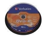 Obrázok produktu Verbatim médium DVD-R, 4.7GB, 16x, 10ks, pack spindl