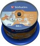 Obrázok produktu Verbatim médium DVD-R, 4.7GB, 16x, 50ks, pack spindl, printable