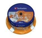 Obrázok produktu Verbatim médium DVD-R, 4.7GB, 16x, 25ks, pack spindl