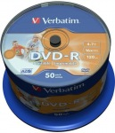 Obrázok produktu Verbatim médium DVD-R, 4.7GB, 16x, 50ks, cake, printable