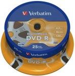 Obrázok produktu Verbatim médium DVD-R, 4.7GB, 16x, 25ks, cake, printable