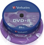 Obrázok produktu Verbatim médium DVD+R, 4.7GB, 16x, 25ks, cake