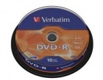 Obrázok produktu Verbatim médium DVD-R, 4.7GB, 16x, 10ks, cake