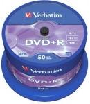 Obrázok produktu Verbatim médium DVD+R, 4.7GB, 16x, 50ks, cake