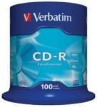 Obrázok produktu Verbatim médium CD-R, 700MB, 52x, 100ks, pack spindle