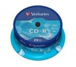 Obrázok produktu Verbatim médium CD-R, 700MB, 52x, 25ks, pack spindle