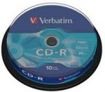 Obrázok produktu Verbatim médium CD-R, 700MB, 52x, 10ks, cake
