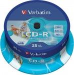Obrázok produktu Verbatim médium CD-R, 700MB, 80min, 52x, 25ks cake, Printable