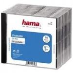 Obrázok produktu Hama CD Box náhradný obal na 1 CD,  priehľadný / čierny,  10 ks