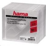 Obrázok produktu Hama CD obal Standard Double,  10 ks,  priehľadný