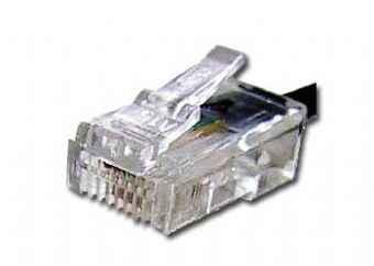 Gembird kábel RJ11 krimp 6P4C (100ks.) - MP-6P4C/5