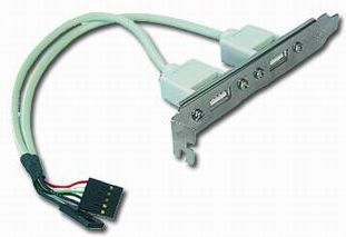 Gembird vývod 2x USB z MB na záslepku skrine - CCUSBRECEPTACLE