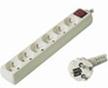 Obrázok produktu predlžovací kábel 230V, 6 zásuviek + vypínač, 2m