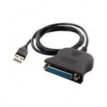 Obrázok produktu 4World redukcia, USB [M] na LPT Parallel Port DB25 [F], 1m, čierny