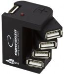 Obrázok produktu ESPERANZA EA126 rozbočovač USB 2.0, 4 porty