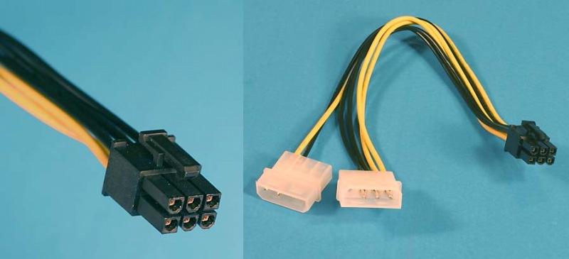 redukcia, 6pin konektora pre PCI-E VGA karty (zo zdroja) - SKREDUKCIAPCIE