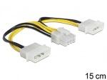 Obrázok produktu Delock napájací kábel, Molex 4pin, 0,15m