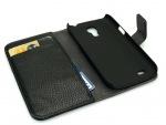 Obrázok produktu Sandberg kryt na mobil Samsung Galaxy S4 Mini, tvar peňaženky, čierny