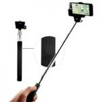 Obrázok produktu Teleskopický selfie držiak C-TECH pre mobil, bluetooth diaľková spúšť, čierny