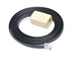 Obrázok produktu Prodluž.kabel 6P6C-24V pro pokl.zás., 2m,  černý